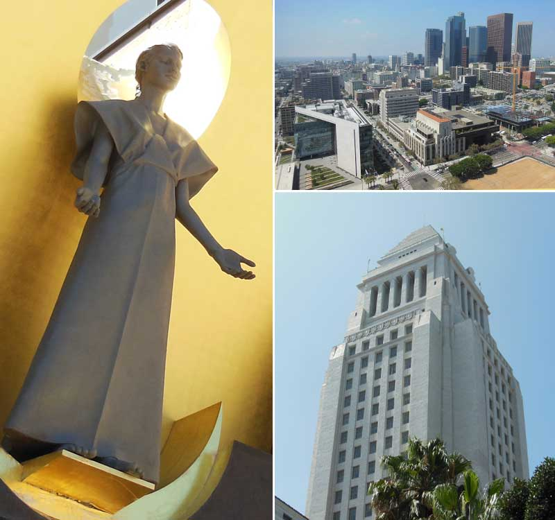 Los Angeles-Cathedral of Our Lady of the Angels, L.A. City Hall, Downtown