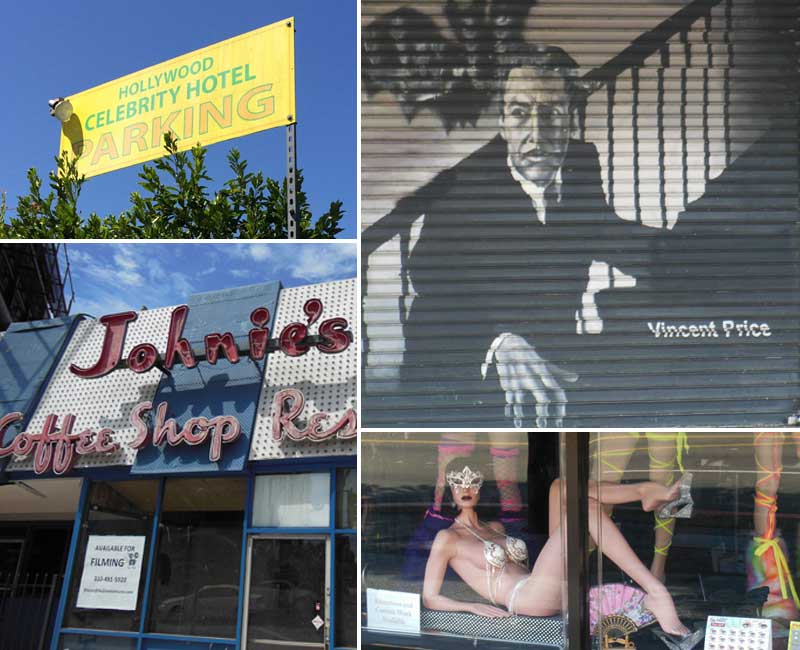 Los Angeles-Celebrity Hotel, Vincent Price, Johnie's Coffee Shop, Hollywood Storefront