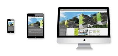 Website-display-screen